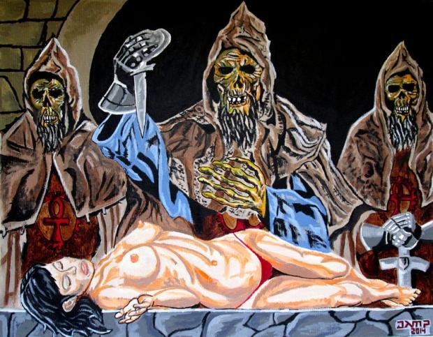 El sacrificio de los templarios sin ojos