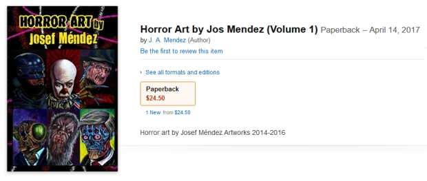 Horror Art book Josef Mendez