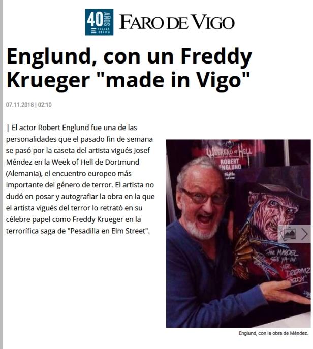 Faro Vigo Freddy Krueger